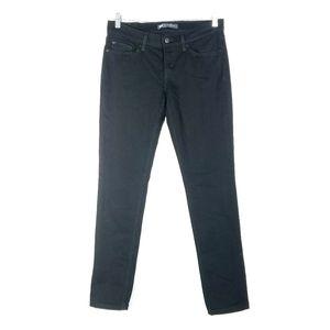 Levi's 524 Womens 29 Jean's Skinny Low Rise Black